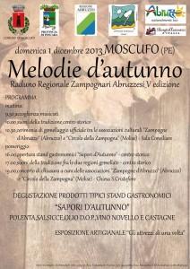 1 dicembre Moscufo, in collaborazione con l'Associazione Culturale Zampogne d'Abruzzoil Raduno Regionale degli Zampognari Abruzzesi