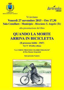 Artemia Edizioni con il patrocinio del Comune di Mosciano presenta Quando la morte arriva in bicicletta