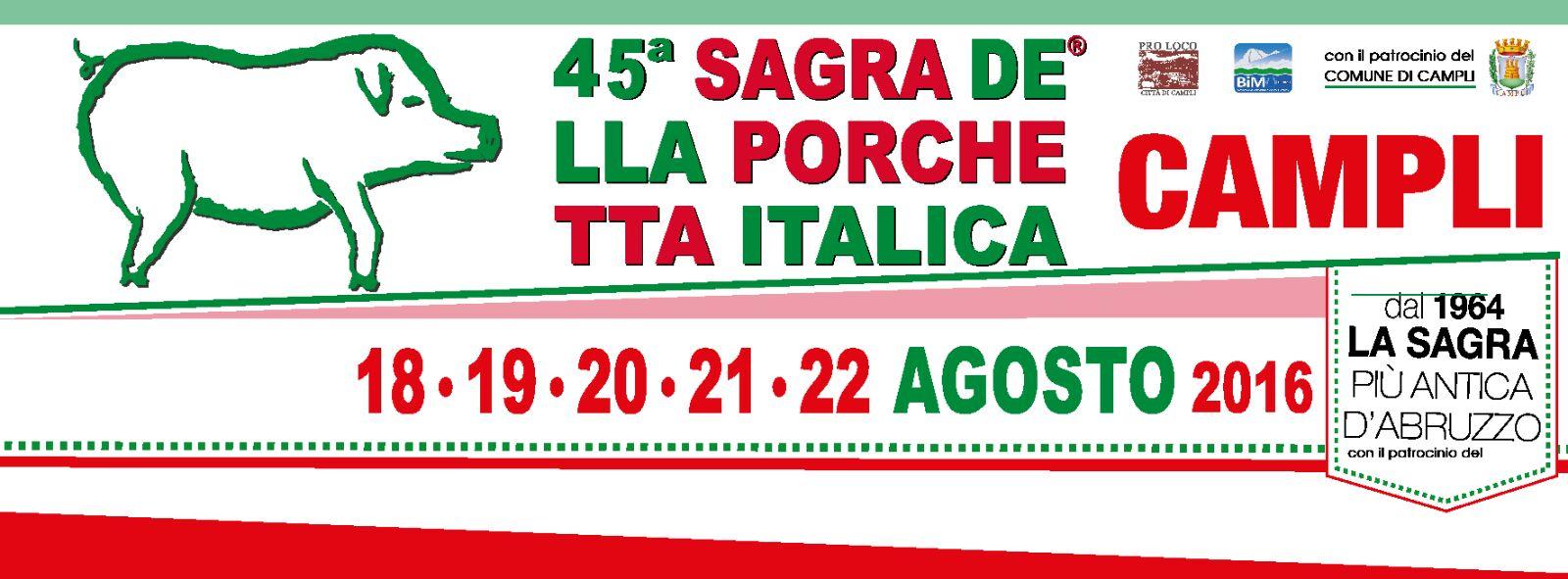 Banner Sagra Porchetta Italica Campli 2016