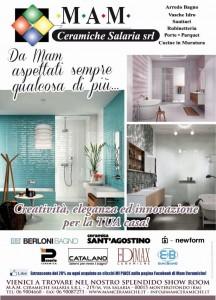 Creazione pagina pubblicitaria per il Messaggero Roma - campagna di Mam Ceramiche