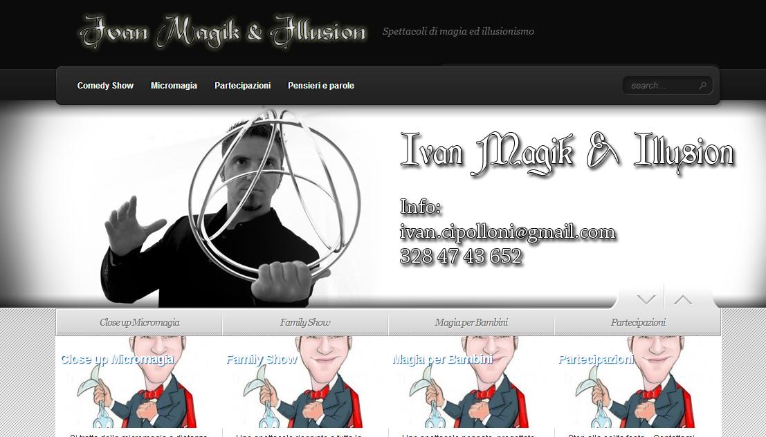 Creazione sito internet mago prestigiatore illusionista Ivan Cipolloni