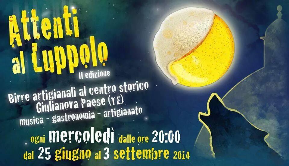 Distribuzione pubblicitaria a Giulianova Teramo per Attenti Luppolo