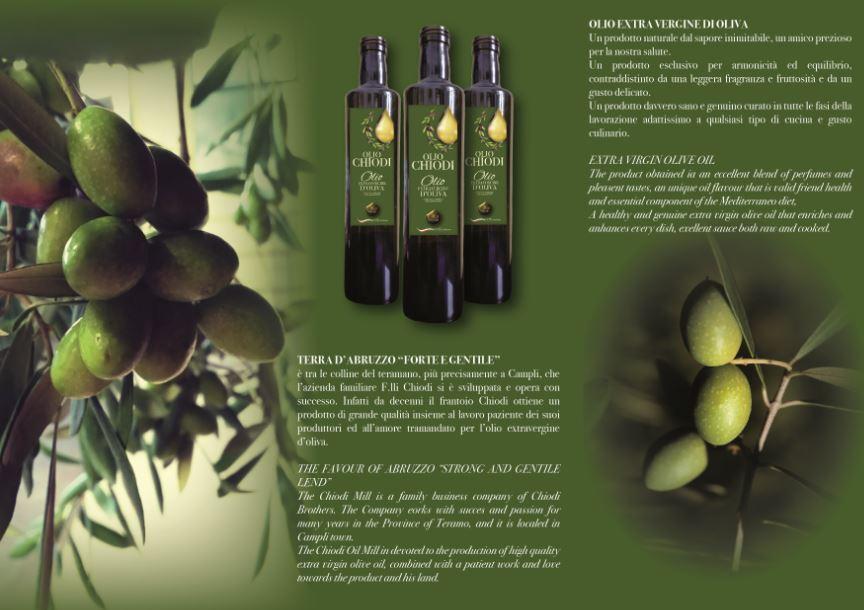 Etichette Olio Extravergine di Oliva e Flyer Pubblicitario