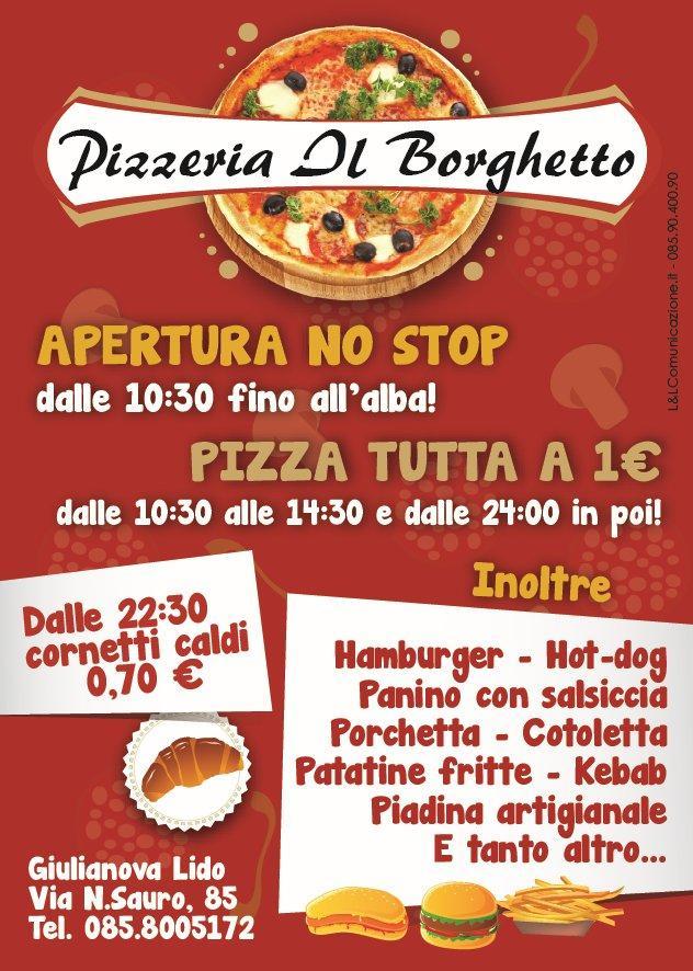 Grafica e stampa pubblicitaria Giulianova - Pizzeria il Borghetto