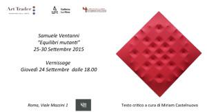 La Galleria d'Arte La Riva è lieta d'invitare la S V alla personale di Roma