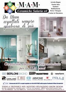 Pubblicità carta stampata su quotidiani giornali riviste - Mam Ceramiche Roma