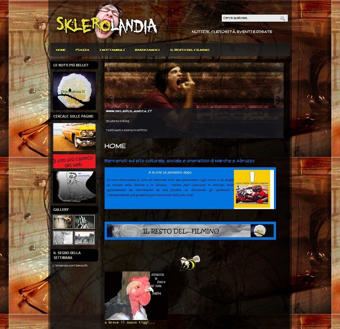 Creazione sito web portale umoristico Sklerolandia
