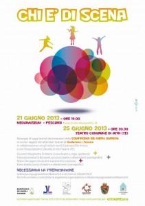 Stampa manifesti pubblicitari Giulianova - Compagnia teatrale dei Merli Bianchi