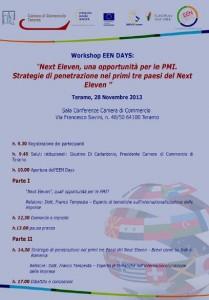 Workshop riguardante l'internazionalizzazione delle PMI, organizzato dalla CCIAA di Teramo