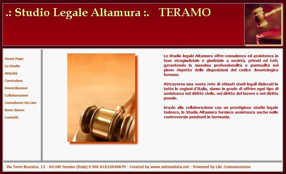 Gestione sito web Studio Legale Avvocati Altamura - Teramo