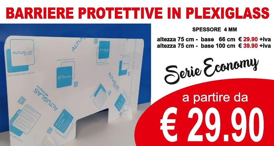 Barriera protettiva in plexiglass - Separatore da banco e parafiato Teramo Abruzzo