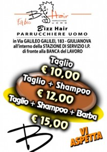 Flyer pubblicitario Giulianova - Bizz Hair Fabio Parrucchiere Uomo