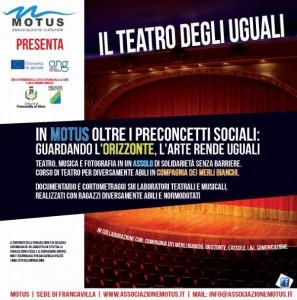 Grafica copertina DVD Francavilla Chieti – Associazione Motus Il Teatro degli Uguali