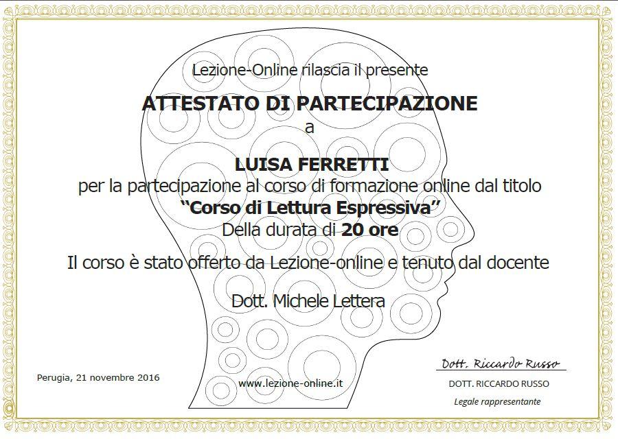 Corso di lettura espressiva Giulianova