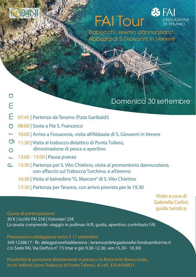 FAI TOUR all'Abbazia di San Giovanni in Venere, ai Trabocchi e all'Eremo dannunziano