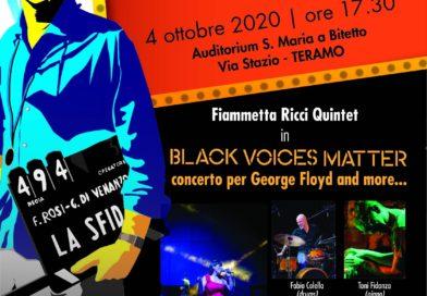Teramo, Fiammetta Ricci Quintet in BLACK VOICES MATTER Concerto per George Floyd and more…