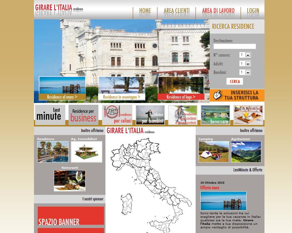 Girare L'Italia Residence – Portale turistico italiano per residence e ristoranti