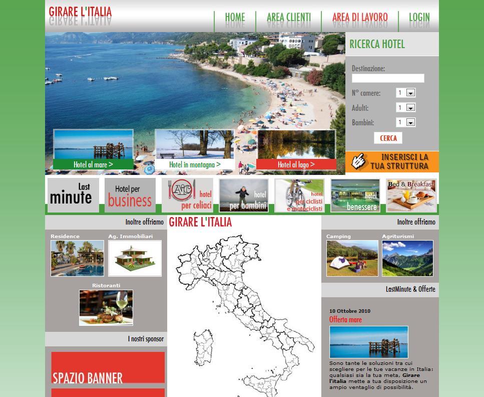 Girarelitalia - creazione portale turistico Girare L'Italia