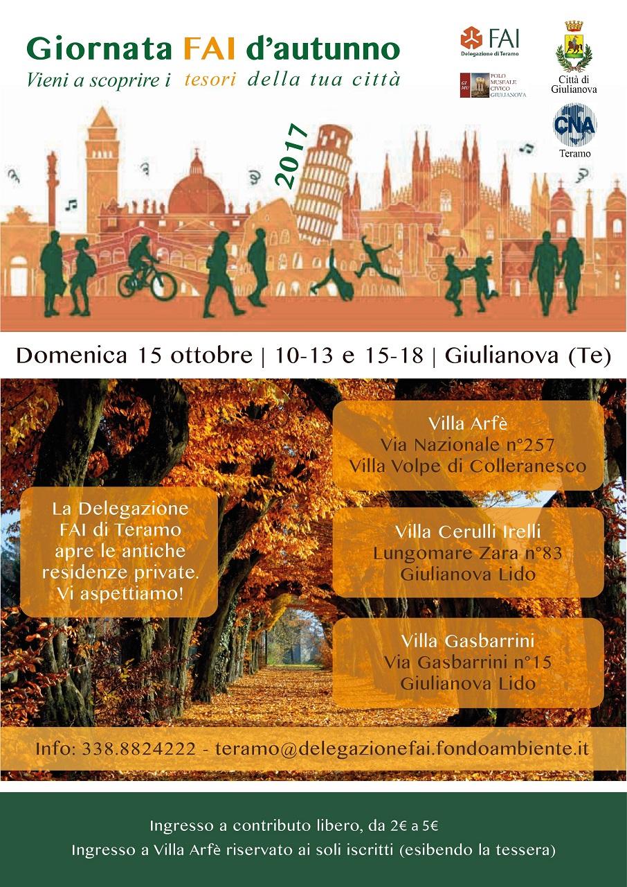 Giulianova, alla scoperta di tre straordinarie residenze giuliesi nelle Giornate FAI d'Autunno, a cura della Delegazione FAI di Teramo