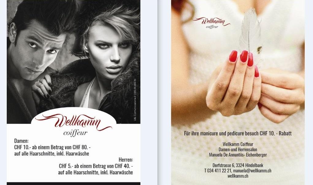 Grafica e stampa volantino pubblicitario - Centro estetico Svizzera
