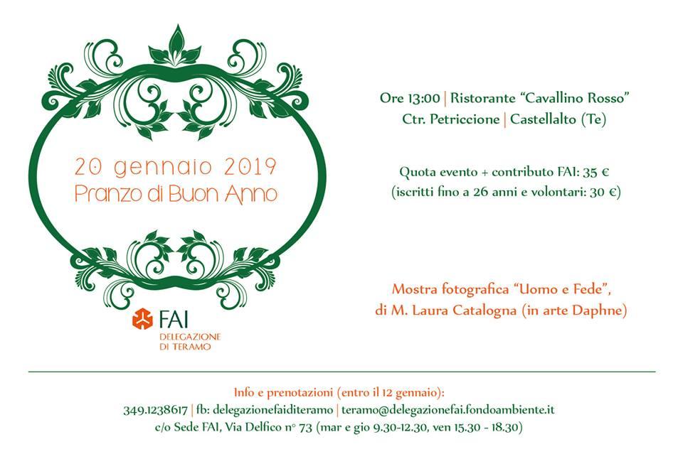 Invito ufficiale Pranzo di Buon Anno - dalla delegazione FAI Teramo