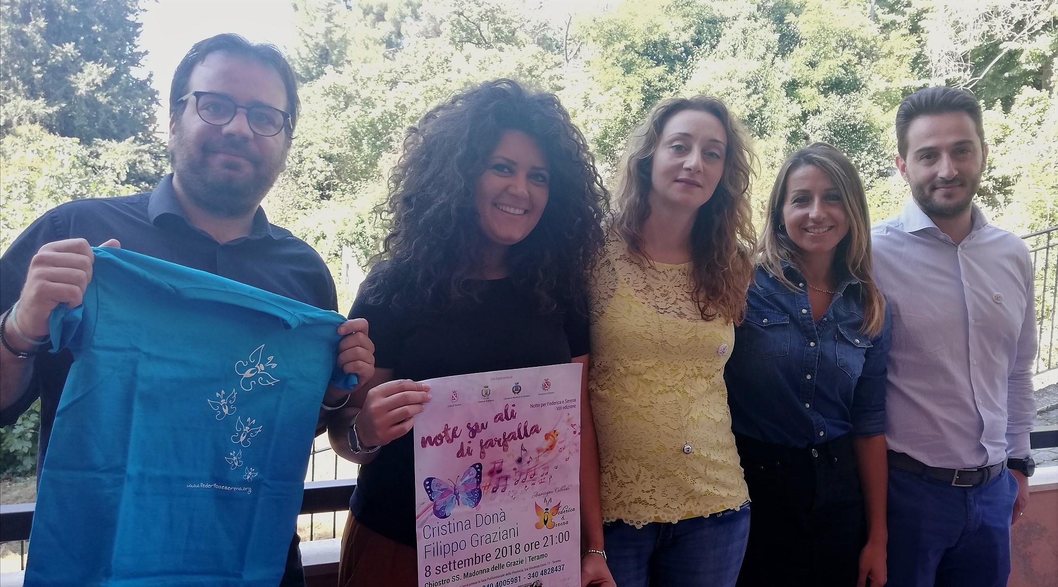 L'8 settembre l'ottava Notte per Federica e Serena con i cantautori Filippo Graziani e Cristina Donà