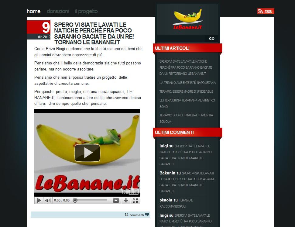 Creazione siti web Teramo - Restyling blog giornalistico