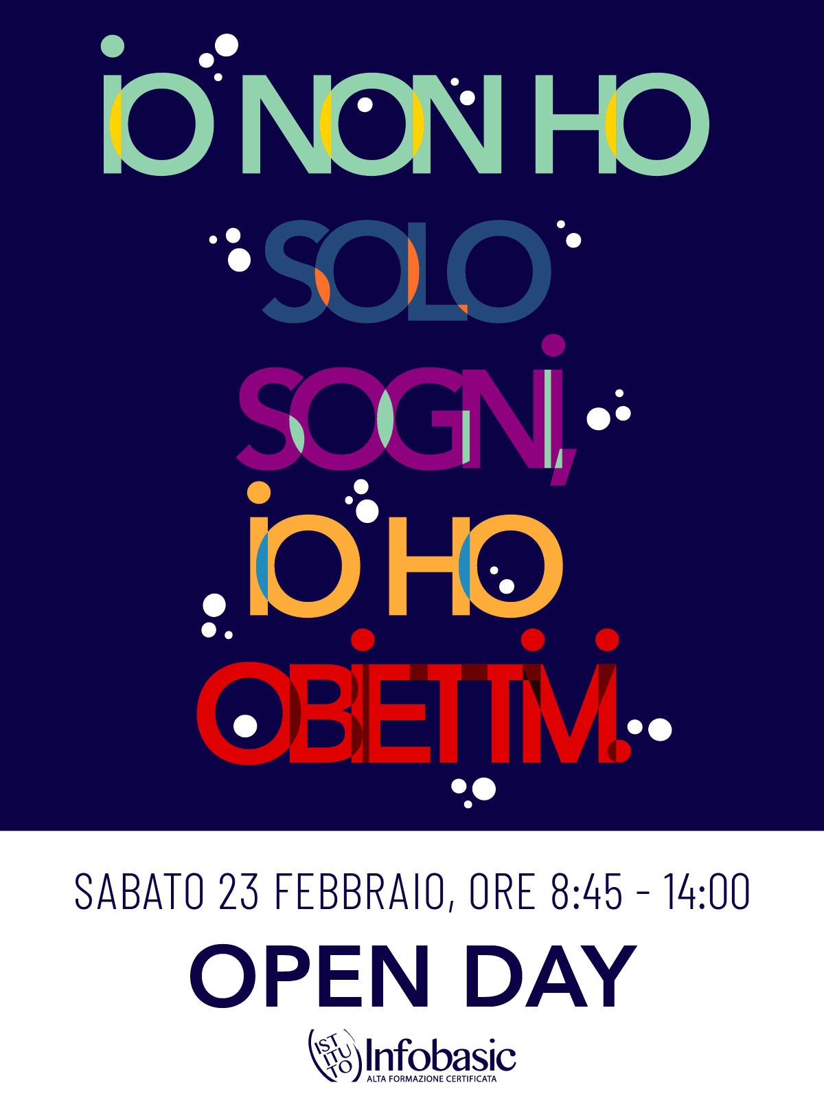 Pescara : Open day 23 febbraio 2019 - Per chi non ha solo sogni, ma obiettivi!