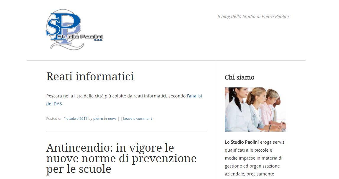 Realizzazione blog aziendale Francavilla al Mare - Studio Paolini