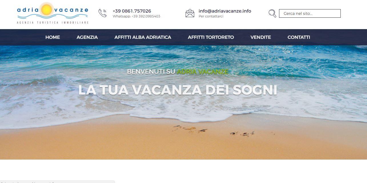 Realizzazione siti internet Alba Adriatica - Adria Vacanze