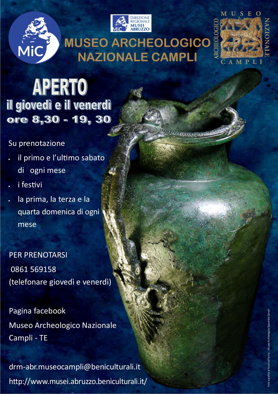 Riapertura del Museo Archeologico Nazionale di Campli, secondo le nuove norme Covid-19