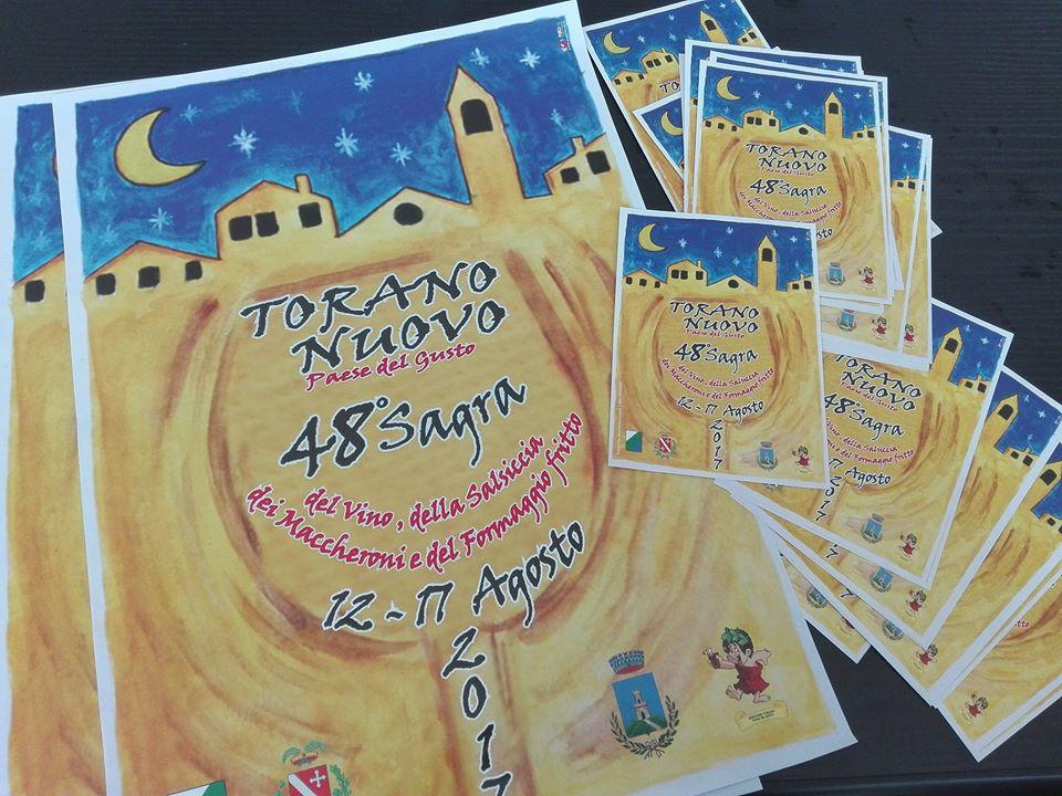 Stampa cartoline locandine pubblicitarie Torano Nuovo