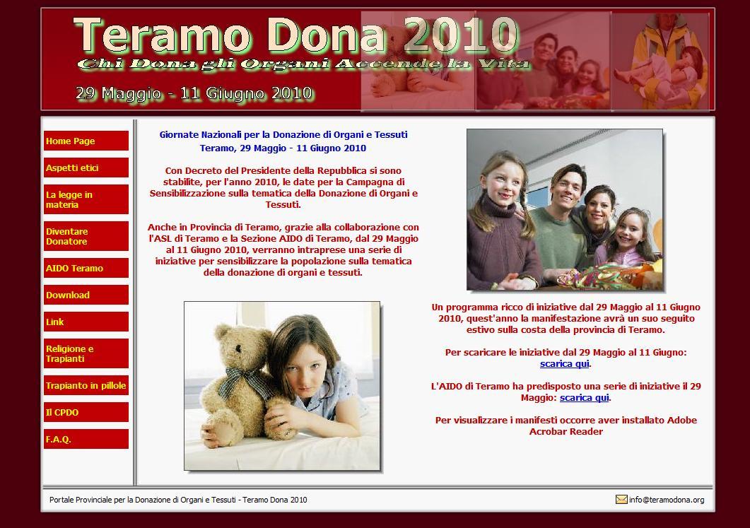 Gestione sito web Teramo Dona