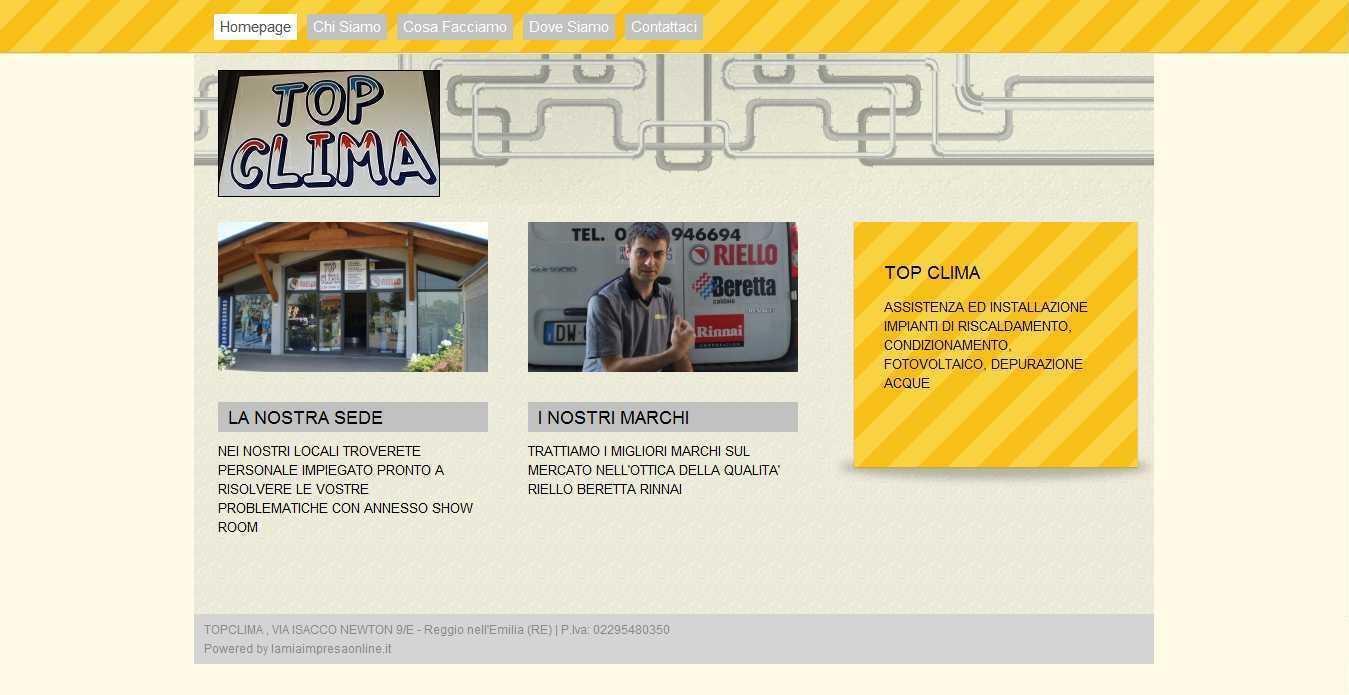 TopClima Reggio Emilia – Gestione sito web