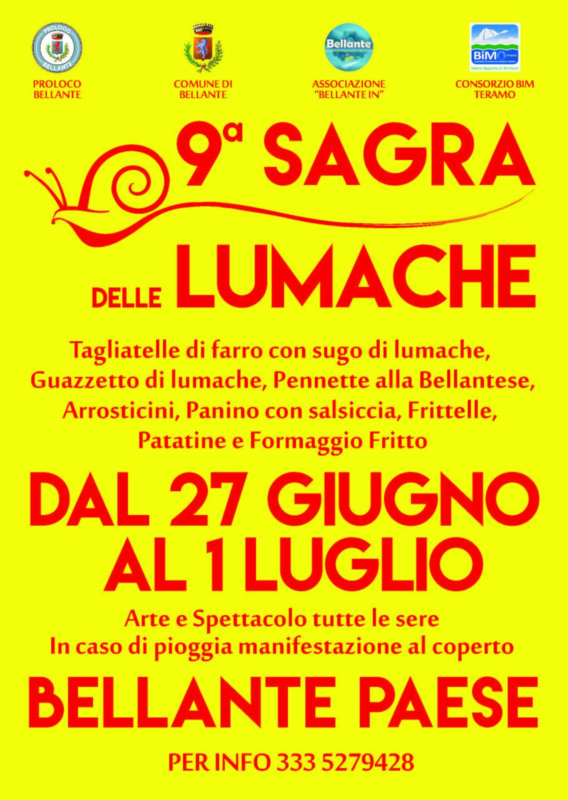 2018 - 9° Sagra delle Lumache di Bellante