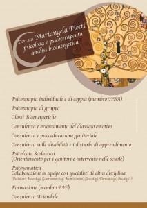 Cartolina pubblicitaria Teramo – Psicologa Psicoterapeuta e Analisi Bionergetica