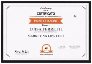 Corso Marketing Low Cost - Giulianova
