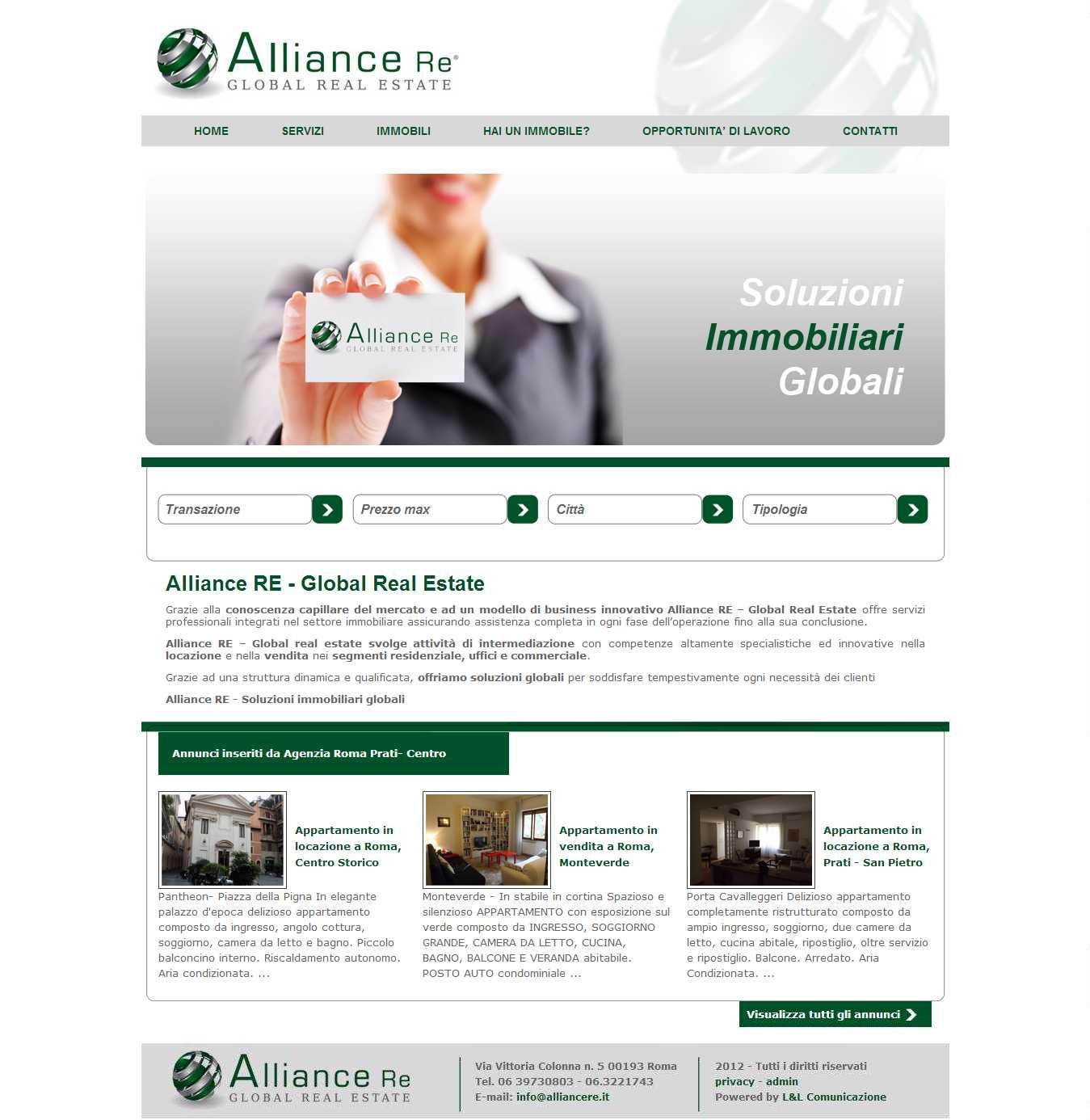 Creazione Siti Web Roma - Alliance Re agenzia immobiliare