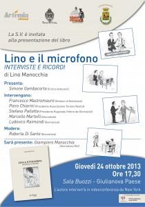 Giulianova, presentazione libro Lino e il microfono di Lino Manocchia di Artemia Edizioni