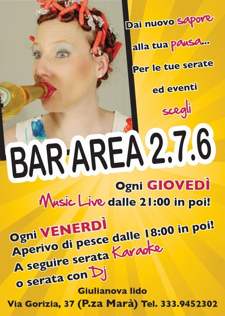 Grafica e Stampa cartoline pubblicitarie Giulianova - Bar Area 276