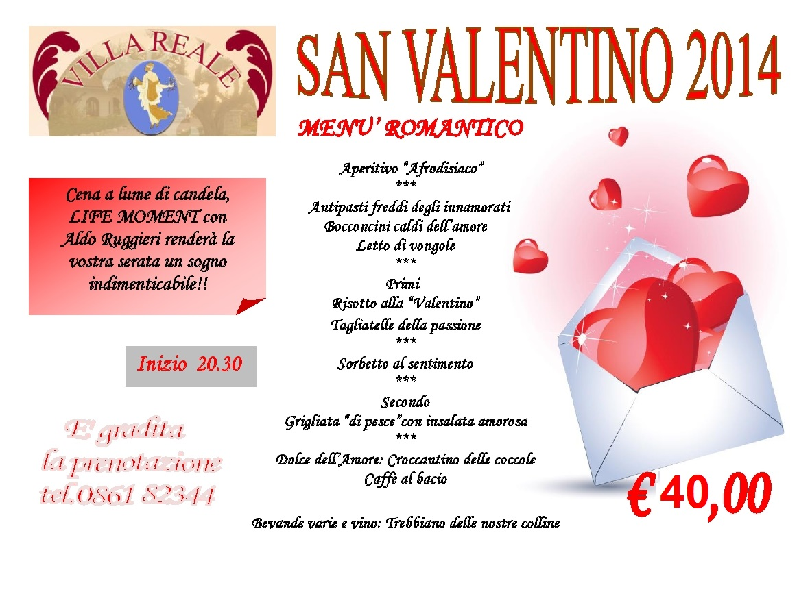 Idee per cena romantica san valentino con musica a corropoli teramo ristorante villa reale - Idee serata romantica a casa ...
