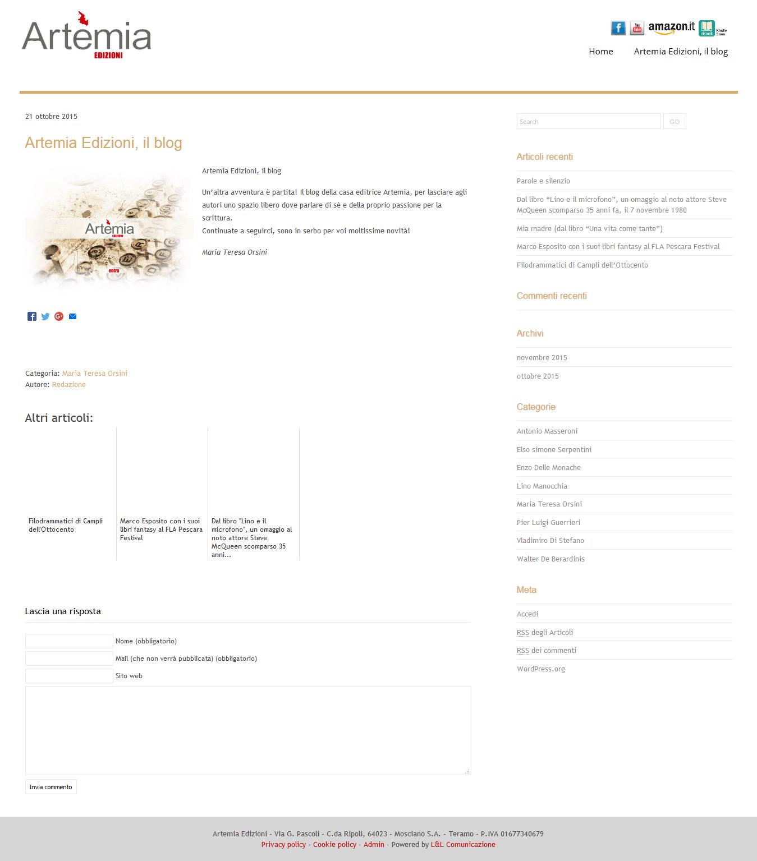 Realizzazione Blog Aziendali L & L Comunicazione Web Agency a Giulianova