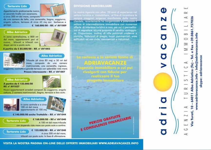 Realizzazione grafica pieghevoli pubblicitari Alba Adriatica