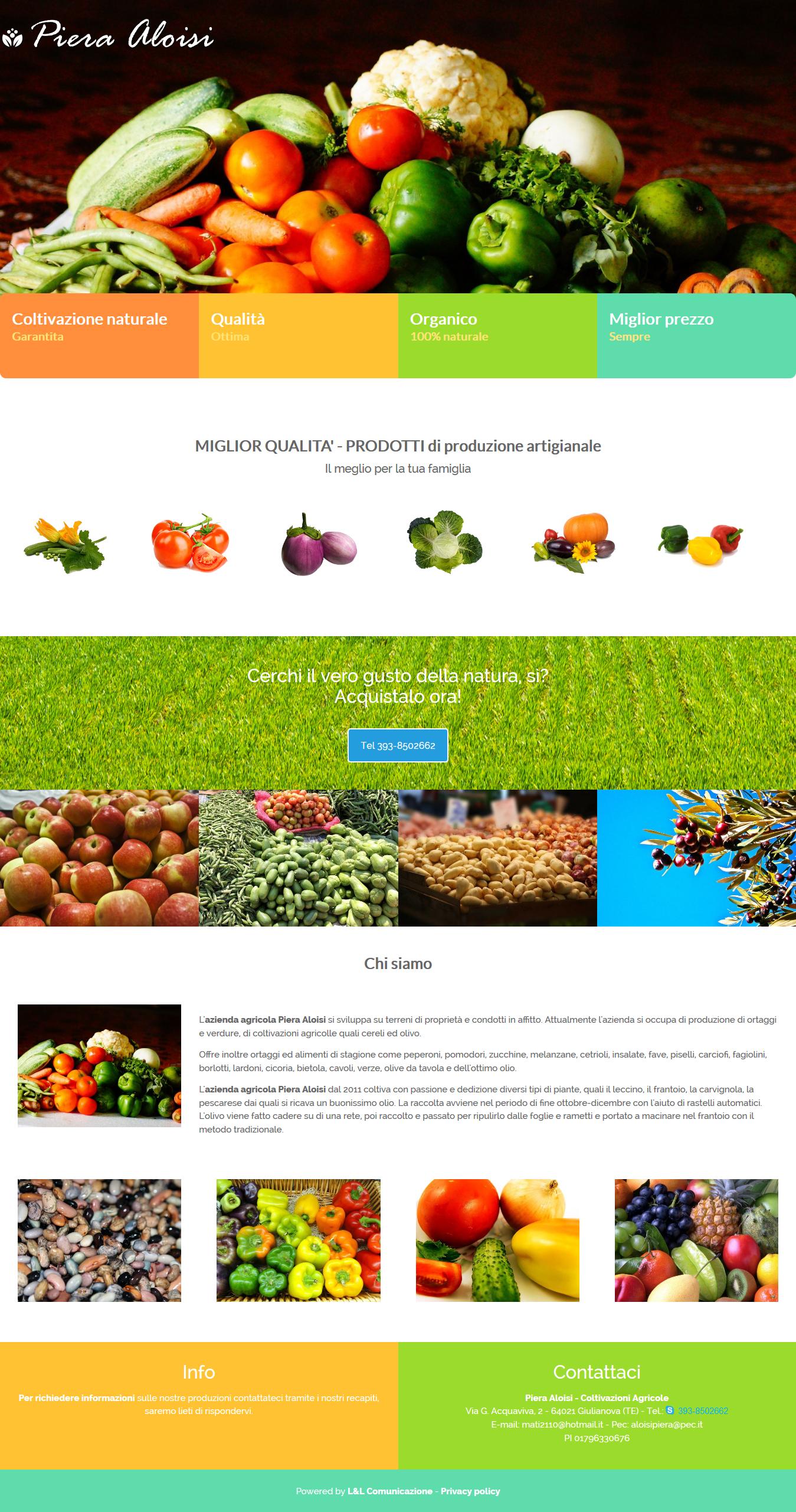 Realizzazione siti web Giulianova - Azienda Agricola Piera Aloisi