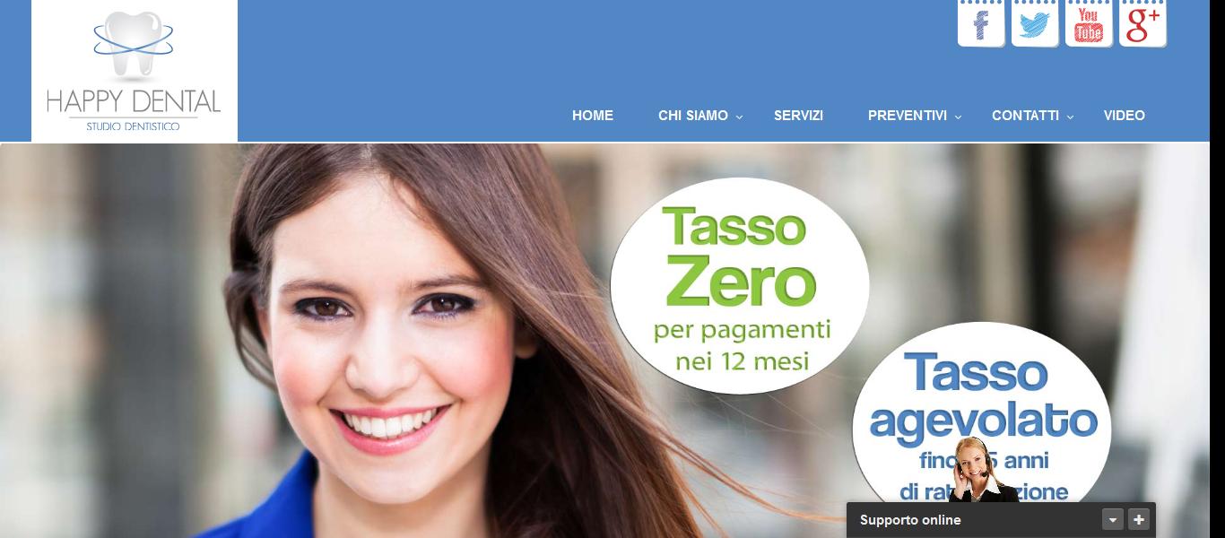 Realizzazione siti web: Studio Dentistico Teramo