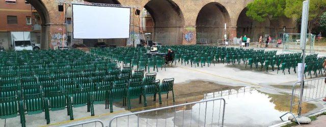 Allestimento cinema all'aperto Teramo Ascoli Piceno Abruzzo e Marche