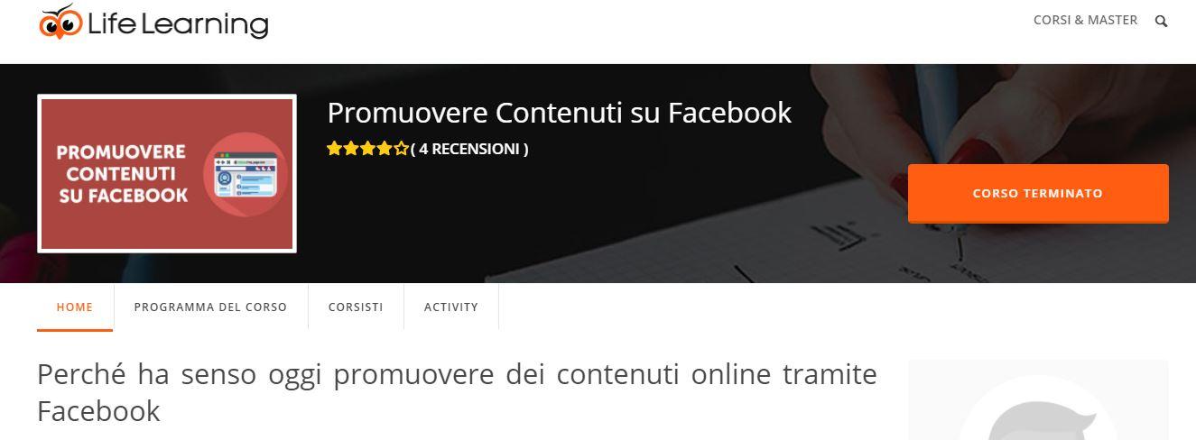 CORSO: Promuovere Contenuti su Facebook