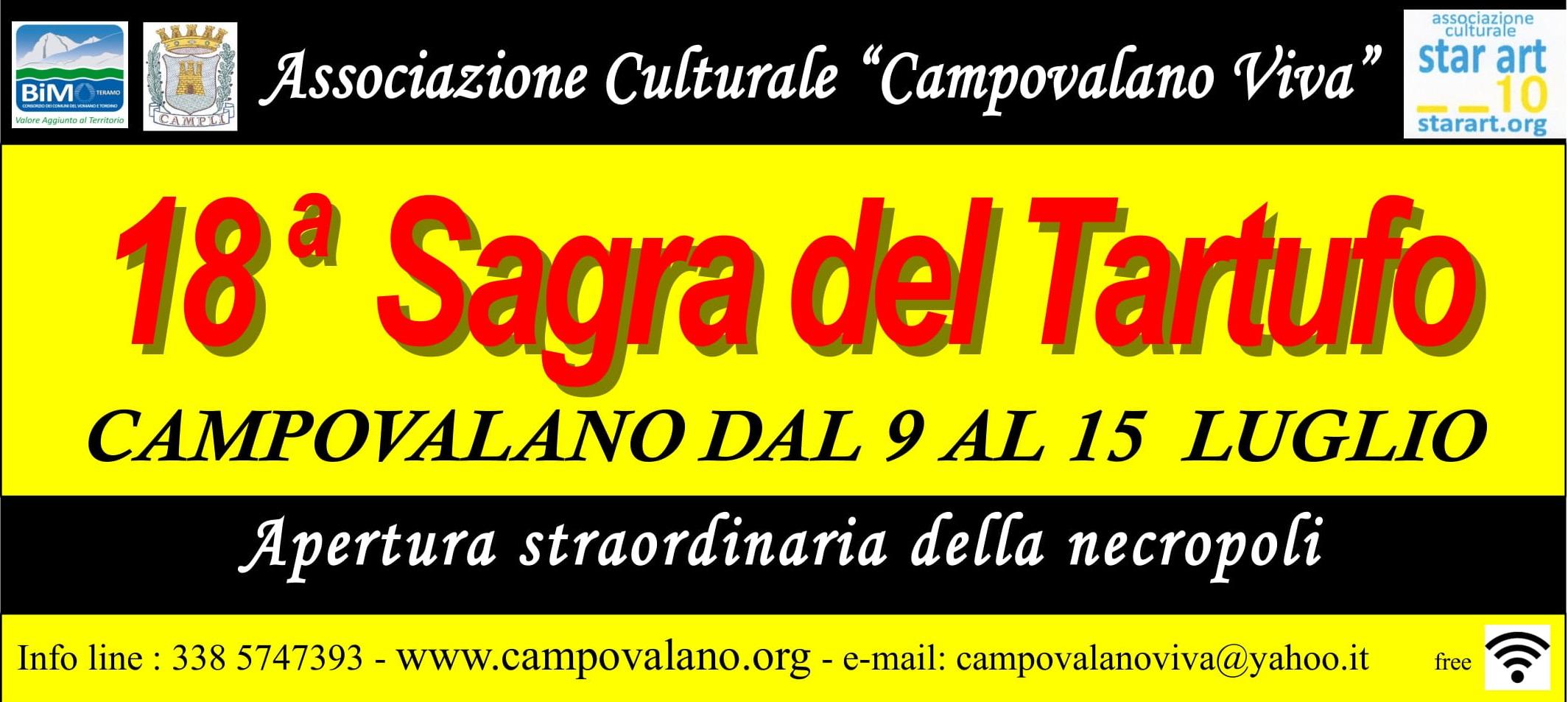 Dal 9 al 15 luglio la Sagra del Tartufo di Campovalano con apertura straordinaria della Necropoli