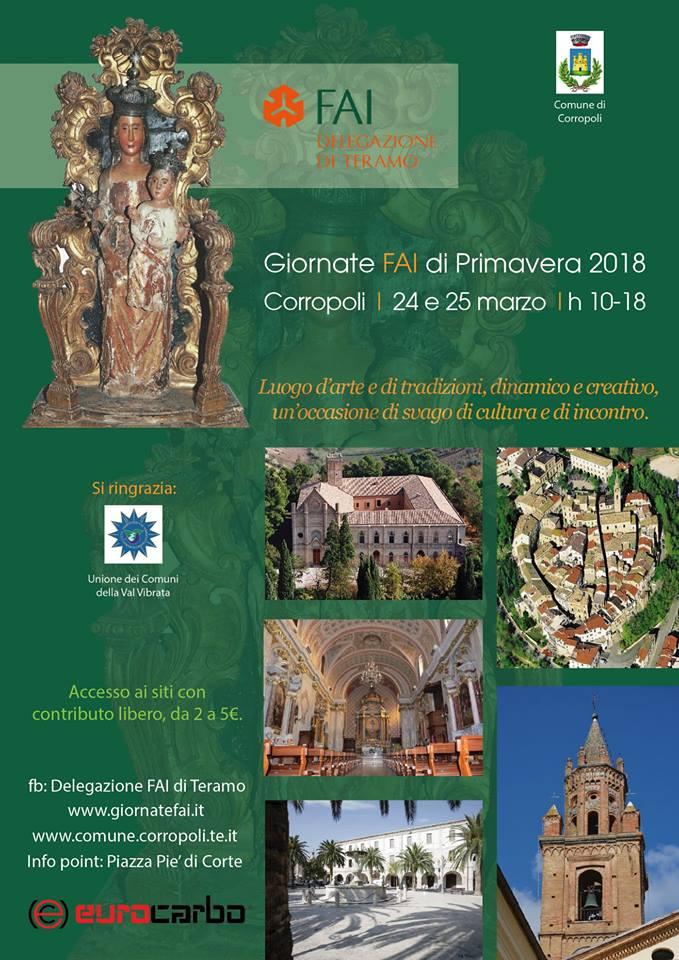 Giornate FAI di Primavera 2018 Corropoli   23, 24 e 25 marzo