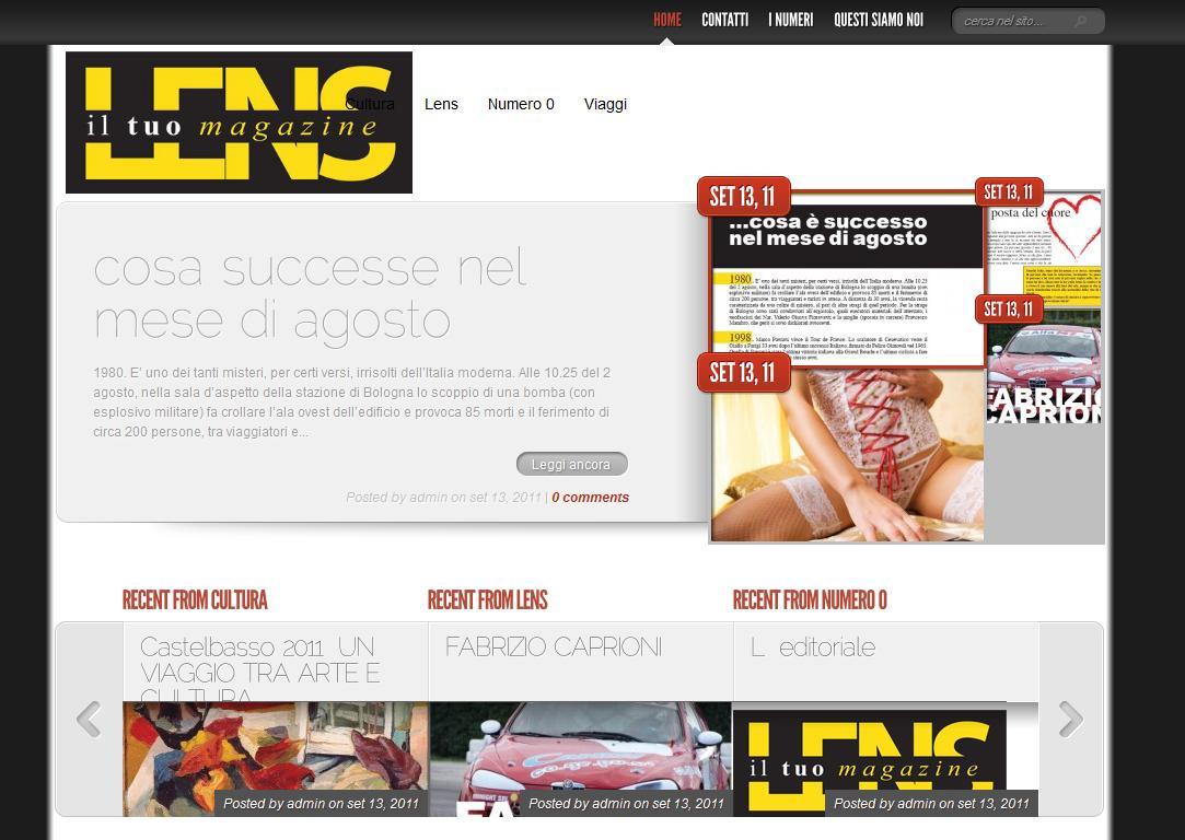 Siti Web Teramo - Creazione sito internet Lens Magazine